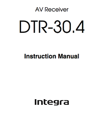 Onkyo Integra DTR-30.4 Amplifier Owners Instruction Manual