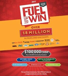 CO-OP FUEL TO WIN tickets available