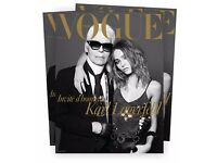 VOGUE Paris Magazine collector featuring Karl Lagerfeld and Lily Rose Depp cover stars