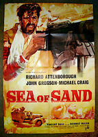 RARE 1958 UK SEA OF SAND WWII NORTH AFRICAN WAR MOVIE POSTER