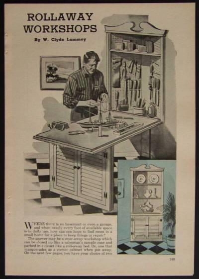 Rollaway Workshop WORKBENCH How-To build PLANS Apartment