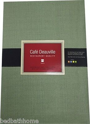 NEW Sage Green Vinyl Tablecloth - Restaurant Quality - Cafe - Green Tablecloth