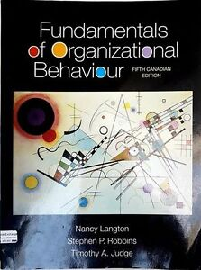 BUAD262 Fundamentals of organizational behaviour