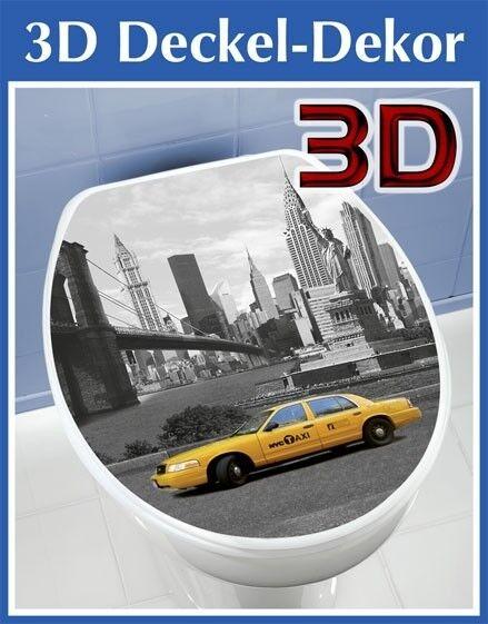 Wenko 3D Aufkleber WC Deckel Sticker Toilettendeckel Toilettenaufkleber New York