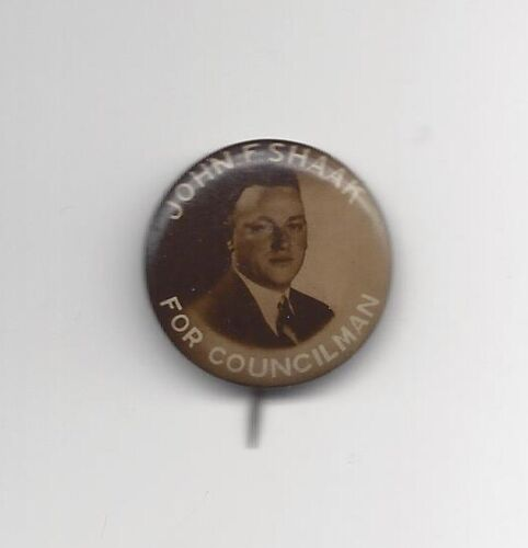 Vintage John F. Shaak for Councilman 1930