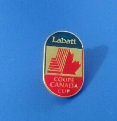 VINTAGE HOCKEY LABATT COUPE CANADA CUP COLLECTIBLE ENAMEL PIN RARE AUTHENTIC