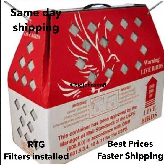 Horizon Shipping Boxes for Live Birds Single Shipper Chickens Poultry SHIPS FAST