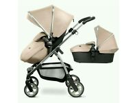 Brand New Silver Cross Wayfarer in sand travel system pushchair, carrycot (sealed Unopened)