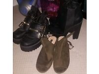 3 pairs of ladies shoes/ boots