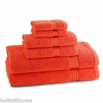 NEW - 100% Egyptian Cotton Towels, 6 Piece Ensemble Blood Orange by KassaDesign  ()