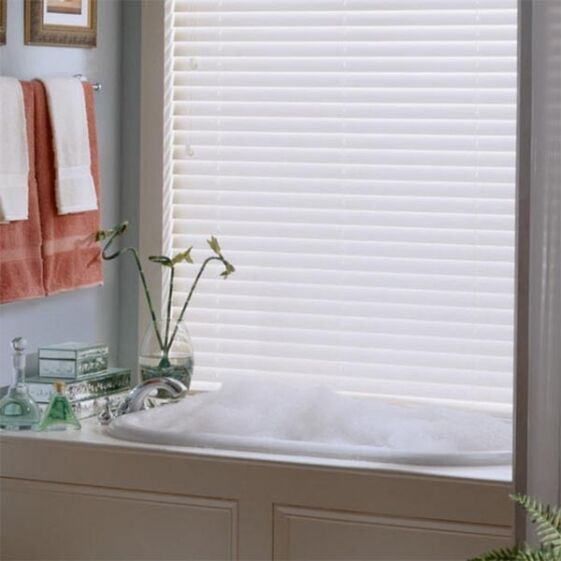 $9.87 - NEW Achim Home Furnishings Morning Star 1-Inch Vinyl Mini Blinds - White