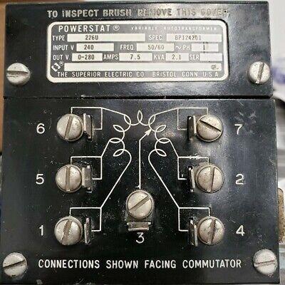Powerstat 226u Variable Autotransformer 240vac Input 5060hz 0-280vdc Output
