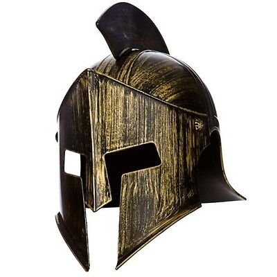 Herren Spartan Helm Kostüm Hut Römischer Gladiator Griechische Helm Neu W