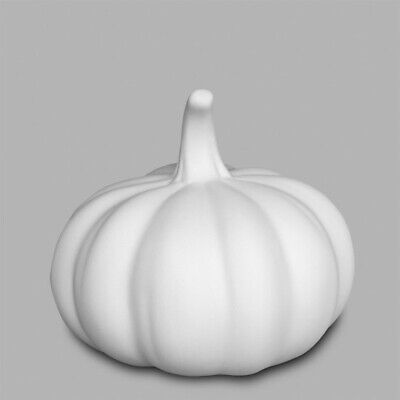 HALLOWEEN Squatty Pumpkin Small Ceramic Bisque Ready to Paint Pottery