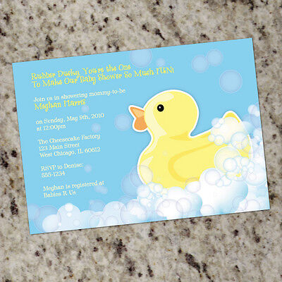 *Rubber Ducky* Themed Baby Shower Invitations - pink or blue Ducky Baby Shower Invitation