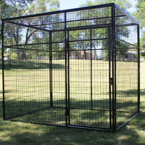 Portable outdoor wire mesh dog play pens and dog crates