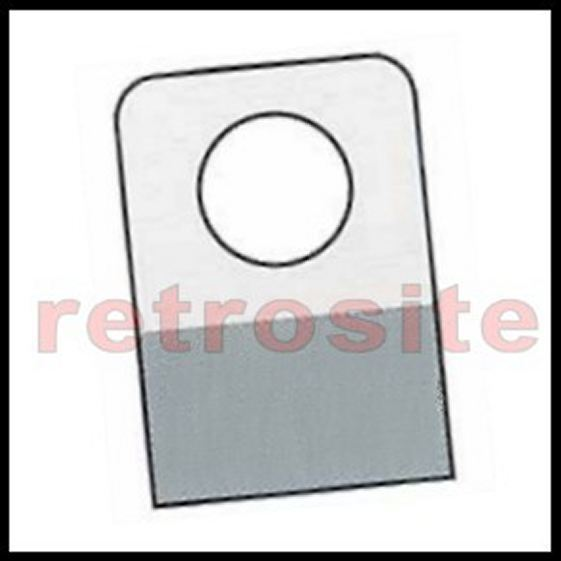 500 Self-Stick Clear Plastic Hang Tabs Tags Round Hole Adhesive Package Hangers