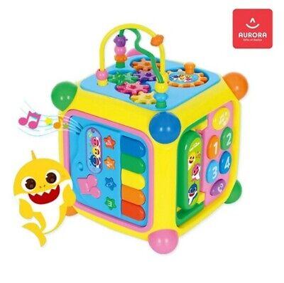 Pinkfong Shark Family EduCube Developmental Baby Toys 6 Korean 3 English Songs