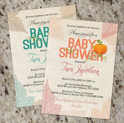 *Little Pumpkin*  Fall Autumn Pumpkin Theme Baby Shower Invitation - Boy or Girl ()