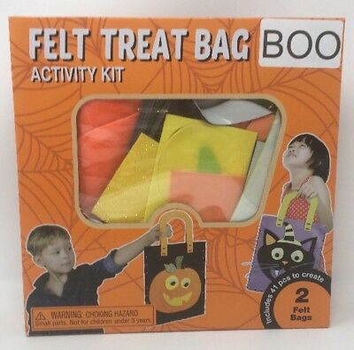 Halloween Felt Treat Bag Activity Kit - Fall Craft Ages - Autumn Halloween Activities