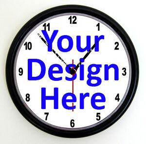 CUSTOM PROMOTIONAL CLOCK - Personalised Wall Clock , Business Logo Office Photo