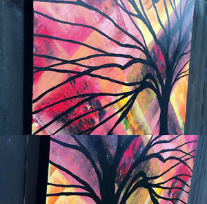 Abstract Bird Painting Modern wall Decor Original Canvas Art Oakville / Halton Region Toronto (GTA) image 3