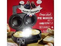 The Hairy Bikes Deep Dish 2 Pie Maker Non Stick Ceramic Coated 1000w With Cutter