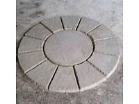 Patio Circle Wavy Edge