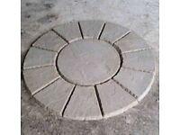Patio Circle Wavy Edge
