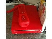 Red Nintendo Wii, Controller and Pokepark 2 Game