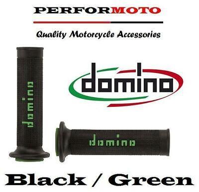 DOMINO RR GRIPS BLACK  GREEN TO FIT <em>YAMAHA</em> MT 07