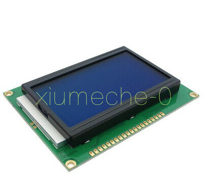 New Dc 5v 12864 Lcd Display Module 128x64 Dots Graphic Matrix Blue Lcd Backlight