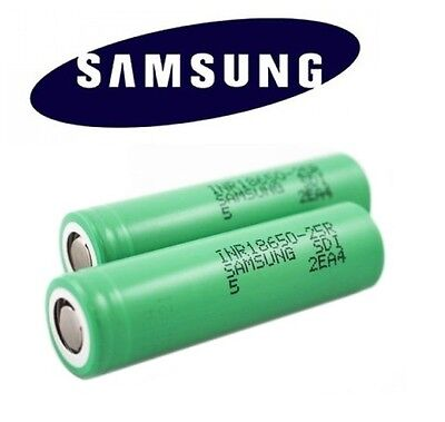 2 x Genuine Samsung INR IMR 18650 High Drain 3.7 25R 2500mAh 20 35A Battery Vape