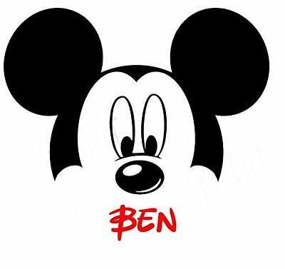 DISNEY MINNIE  MICKEY MOUSE  PERSONALIZED FABRIC/T-SHIRT IRON ON TRANSFER](Personalized Fabric)