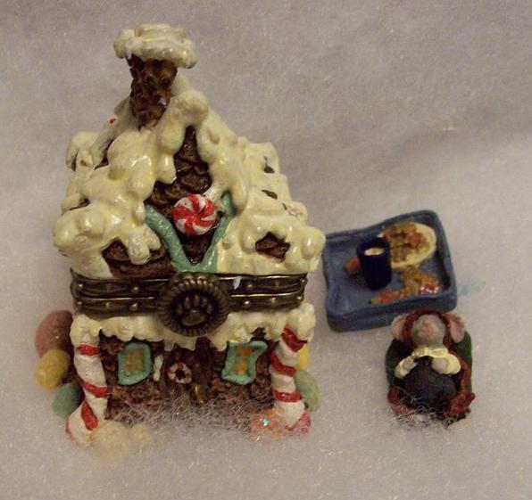 BOYDS TREASURE BOX SUGAR CHALET W/PUDGE, CHRISTMAS