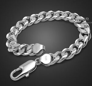 Wholesale Solid Silver Jewelry Mens 18K Gold Silver Chain Silver Bracelet S925