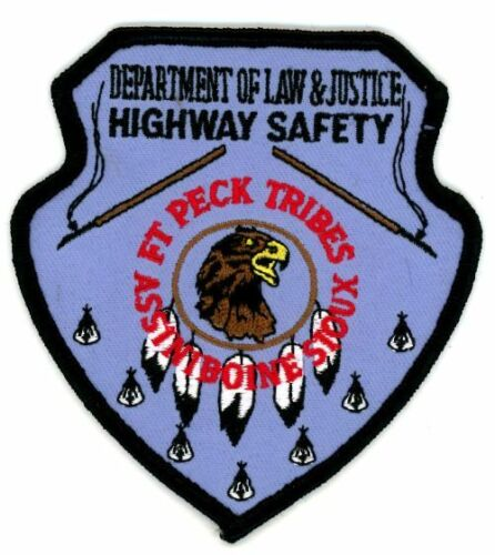 FORT PECK TRIBES ASSINIBOINE DEPT OF LAW JUSTICE MONTANA MT PATCH POLICE SHERIFF