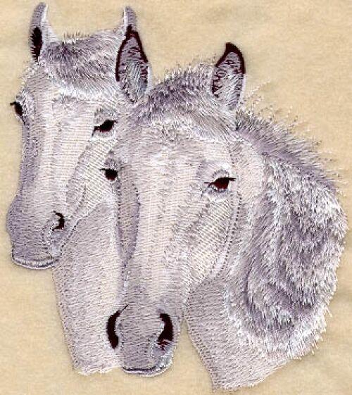 Embroidered Fleece Jacket - Connemara Horse M1089 Sizes S - XXL