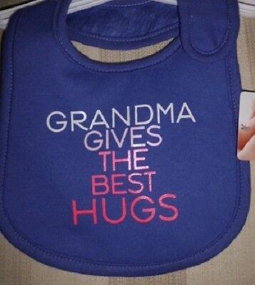 SALE! Grandma Gives the Best Hugs Baby Infant Feeding Teething Bib