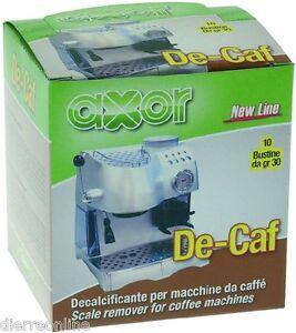 DECALCIFICANTE-CAFFETTIERA-MACCHINA-CAFFE-AXOR-DE-CAF-10-BUSTINE-DA-30gr
