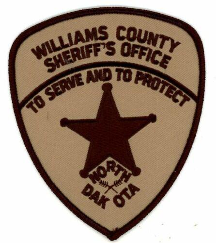 WILLIAMS COUNTY SHERIFF NORTH DAKOTA ND NEW PATCH POLICE
