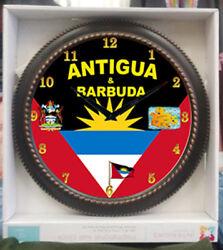 ANTIGUA & BARBUDA  Wall clock Size 12 x12 New