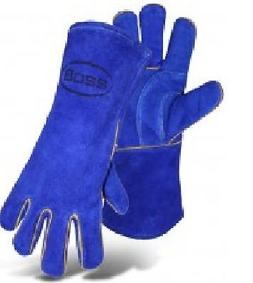 Boss 1jl0939k Foam Insulated Welder Gloves Split Cowhide Leather Size L Each
