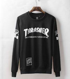 Thrasher sweatshirt Women/Men hoodies Letter print brooklyn 77 sweatshirt SIZE L