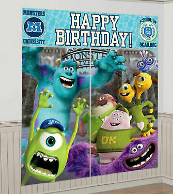 MONSTERS UNIVERSITY INC Scene Setter HAPPY BIRTHDAY party wall decor kit over 6'](Monsters Inc Birthday Party)