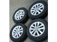 "GENUINE VW VOLKSWAGEN TRANSPORTER T5 T6 HIGHLINE 16"" ALLOY WHEELS & TYRES"
