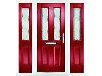 Composite Solid Designer front and back doors. uPVC Plastic frame. Secure & Insulated