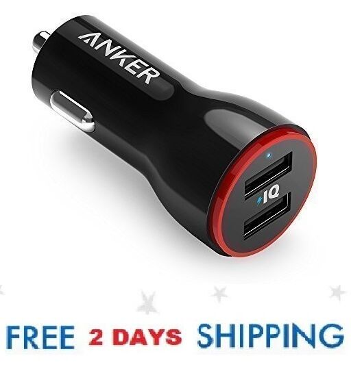 Anker 24W Dual USB Car Charger PowerDrive 2 for iPhone X / 8