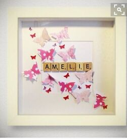 Scrabble name frame *special offer £10*