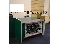 Till table in wood and decorated by laminate paper for sale